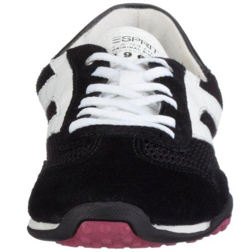 ESPRIT Ambra Lace up E 13050, Damen Sneaker Schwarz (Black001)