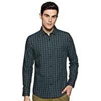 Amazon Brand - Symbol Men's Checkered Regular fit Casual Shirt (SS20AZ-SY-RR-03A_ Green L)