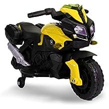 LT875 Motocicleta eléctrica para niños MOTO SPEED con luces y sonidos realistas - Amarillo
