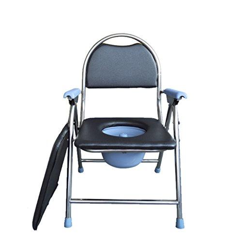 Chaise de Commode Enceinte Chaise de Commode Vieil Tabouret Chaise Tabouret de Toilette Pliable Chaise de Commode Mobile Toilette De Sécurité Toilette