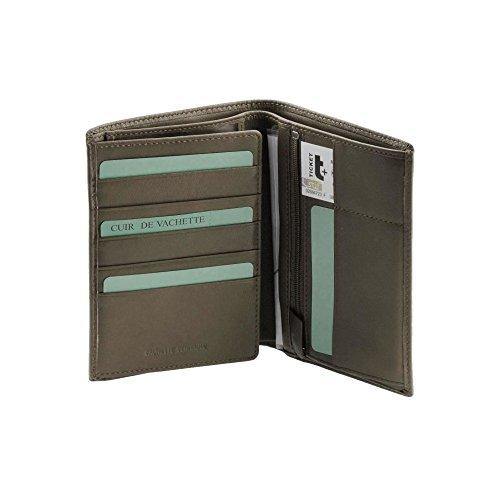 267a2030e49 Grand portefeuille cuir marron N1647 portefeuille homme /carte d'identité,  permis de conduire