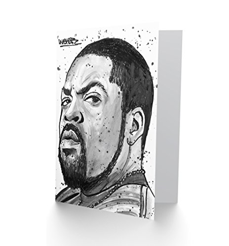 Wee Blue Coo LTD Ice Cube Rapper Painting Greetings Card