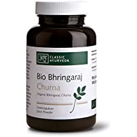 Classic Ayurveda - Bio Bhringaraj Churna - Nahrungsergänzung mit Kräutern, 1er Pack (1 x 100g) - BIO preisvergleich bei billige-tabletten.eu