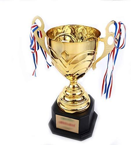 ATLT Trofei, medaglie Premi Metal Trophy Championship Trophy World Cup Creative Team Trophy Art Trophy,Oro + Nero,53 * 21cm