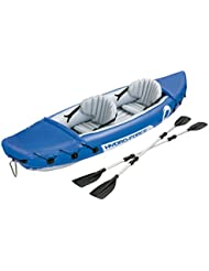 Bestway Hydro-Force Lite-Rapid x2 - Kayak doble, 321 x 88 cm, incluye dos remos desmontables