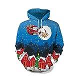 Soupliebe Frauen Frohe Weihnachten Plus Größe Weihnachtsmann Printed Off Shoulder Sweatshirt Top Kapuzen Sweatjacke Kapuzenpullover Hoodie Pullover