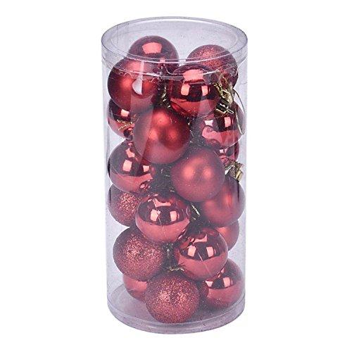Hmilydyk Décoration de sapin de Noël Boules boules de Noël incassables Décorations de luxe Pendentif pour Noël, fête de vacances et (24, 4 cm, Violet), violet, 2.36 inch / 6 cm