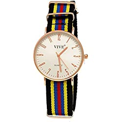 9Fabric Pure Time Unisex Watch, Blue Red Rose Gold Super Flat + Watch Box