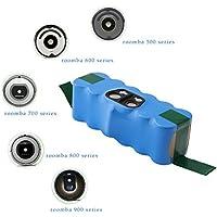 efluky 14,4 V 4.0Ah Ni-MH batería de repuesto para iRobot Roomba 500 series, azul