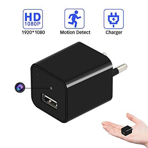 Tangmi 1080P HD Mini Überwachungskamera tragbare kleineKamera USB Aufladeeinheit Bewegung entdecken mit 32GB (Mini Hd überwachungskamera)