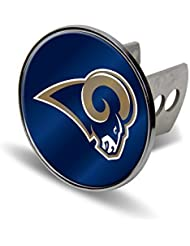 NFL St. Louis Rams Laser Cut Metal Hitch Cover, Large, Silver by Rico