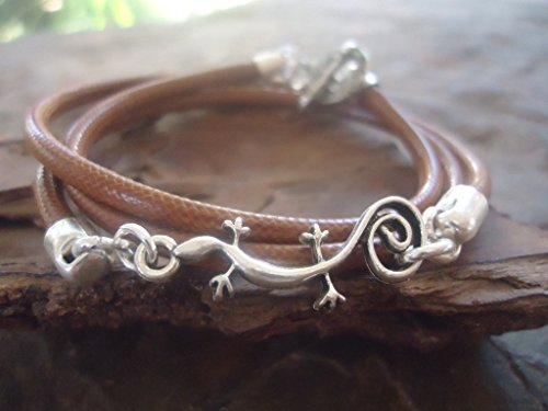gecko-reptile-look-bracelet-wrap-bracelet-in-brown