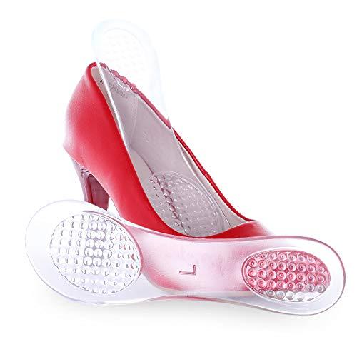 Lady Binotti Einlagen für High Heel Schuhe Soft Gel 3/4 Einlegesohlen Gelkissen Relief (Transparent - 2 Paare)