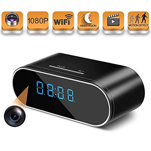 Balscw-J Oculto espía cámara inalámbrica Oculta, 1080P inalámbrico IP Reloj cámaras Ocultas 140 ° ángulo visión Nocturna detección de Movimiento para el Monitor de Seguridad del hogar