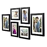 #6: Art Street - Set of 6 Individual Black Wall Photo Frames Wall Hanging(Mix Size) (4 Units 5X7, 2 Units 8X10 inch)
