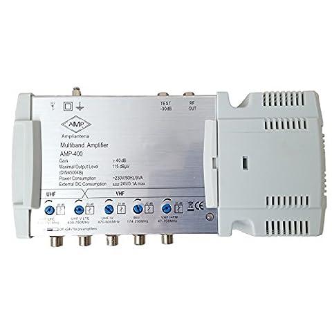 Central Verstärker 5Eingänge und 1Ausgang mit Antennengewinn 40dB FM/DAB/UHF