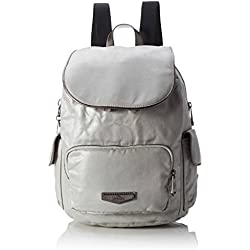 Kipling City Pack S, Mochilas Mujer, Silber (Moon Metal), One Size
