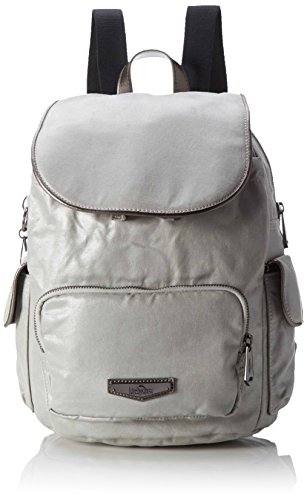 Kipling - City Pack S, Mochilas Mujer, Silber (Moon Metal), One Size