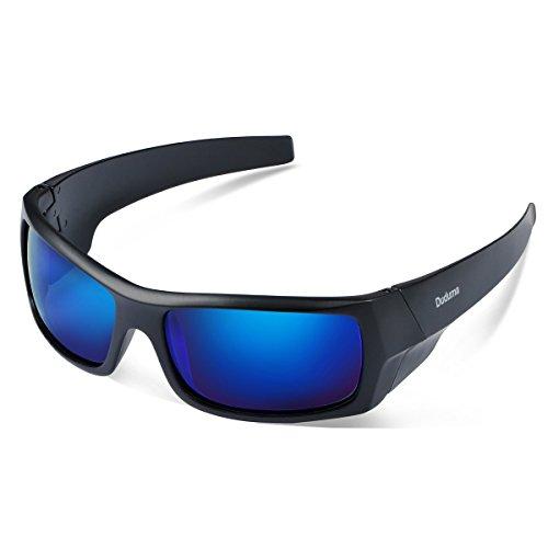 Duduma-Gafas-de-Sol-Deportivas-Polarizadas-Para-Hombre-Perfectas-Para-Esquiar-Golf-Correr-Ciclismo-TR601-Sper-Liviana-Para-Hombre-y-Para-Mujer-139-marco-mate-negro-con-lente-azul