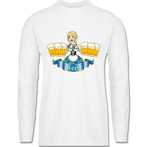 Oktoberfest Herren - Kerb Madl - Longsleeve / langärmeliges T-Shirt für Herren Weiß