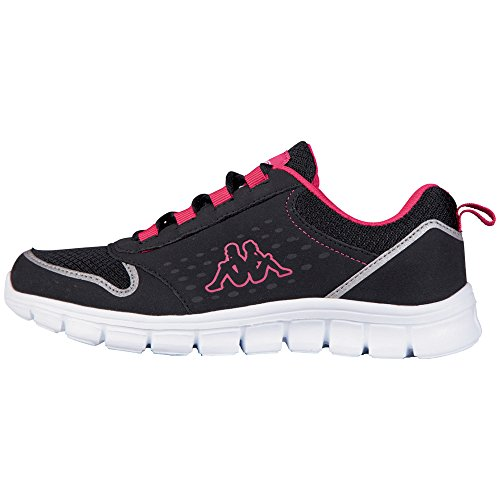 Kappa - Amora Footwear Unisex, Sneaker Unisex – Adulto Nero (1122 Black/pink)