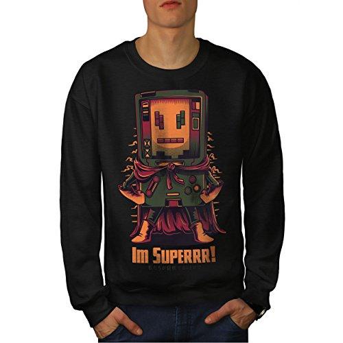 Super Held Konsole Männer 5XL Sweatshirt | Wellcoda