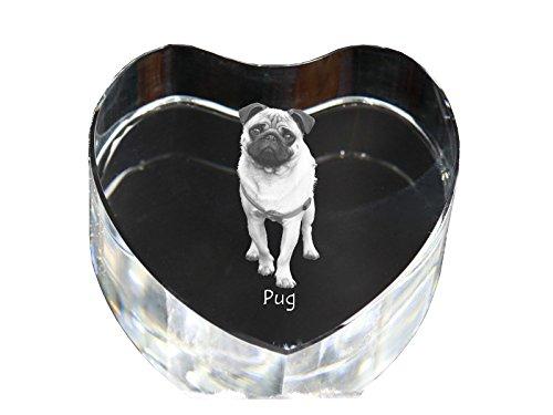 Doguillo, Corazón de cristal con el perro, recuerdo, decoración, edición limitada, recogida de vidrio