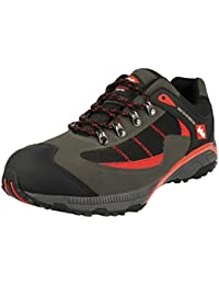 LEE COOPER Red & Grey Lace Up Workwear Safety Shoe's - SIZE UK 12