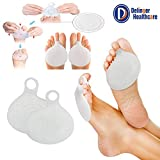 Delinger Healthcare Metatarsal Pads Silicone Ball of Foot Cushions for Rapid Pain Relief