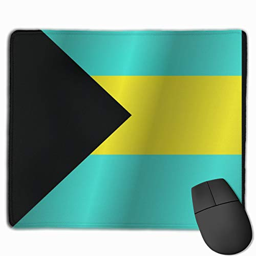 Flag of The Bahamas_42825 Mouse pad Custom Gaming Mousepad Nonslip Rubber Backing 9.8