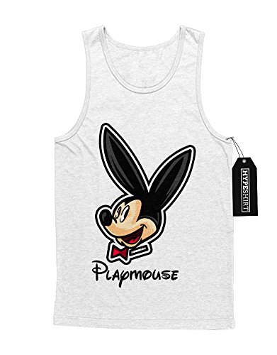 Tank-Top Playmouse Mickey Mouse Playboy Bunny C662363 Weiß (Kostüme Playboy Hefner Hugh)