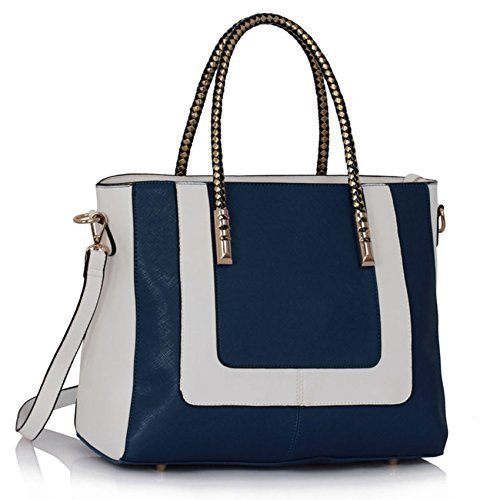 Damen Designer-Handtaschen Damen neue Art und Weise Faux-Leder-Schulter-Tragetaschen (Neue Handtasche Designer Schwarze Inspiriert)