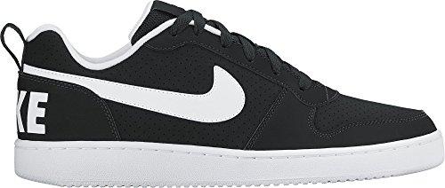 Nike Herren Court Borough Low Basketballschuhe, Schwarz (Black/White), 46 EU (Basketball Schuhe, Männer Sneaker)