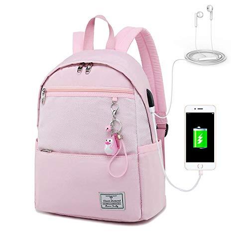 Blossom Powder (Studententasche große Kapazität Mode Rucksack Rucksack, Cherry Blossom Powder - Large (geladene Version))