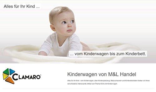 """Clamaro """"VIP 2017"""" Premium Kinderwagen 3 in 1 Kombi System (40 Farben) Kombikinderwagen Komplettset mit Soft Babywanne, Sport Buggy und Autositz Babyschale Gruppe 0+ (0-13 kg), Felge: ALU (Luftreifen), Farbmuster: 19. Schwarz/Weiß"""