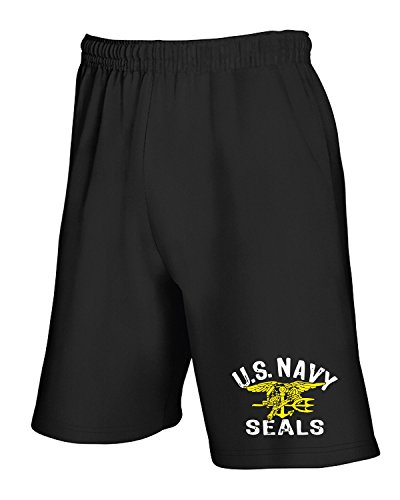 T-Shirtshock - Jogginghose Shorts OLDENG00705 us navy seals, Gr XL (Schwarz Us Navy Seal)