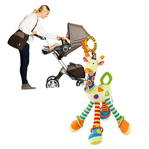 FairytaleMM Baumwolle Infant Baby Entwicklung Weiche Giraffe Tier Handbells Rasseln Griff Spielzeug BB Zahn Gum Newborn Baby Teddy Kinder Spielzeug