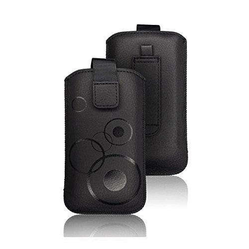 tag-24 Schutzhülle Slider Deko Etui Handytasche Cover passend für Hisense HS-U602 Farbe schwarz