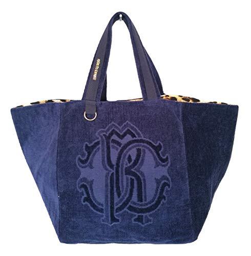 Roberto Cavalli , Damen Schultertasche Blau blau Large