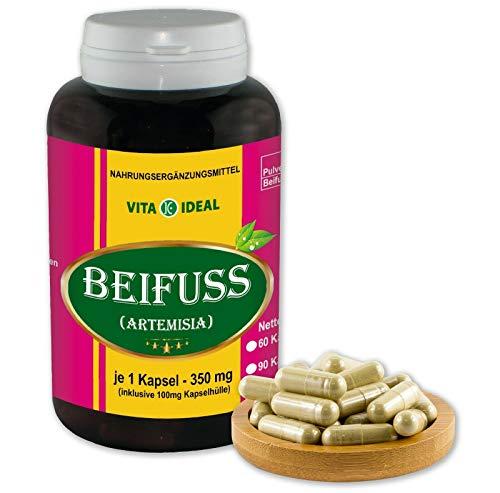350 Mg 180 Kapseln (VITA IDEAL ® Beifuß (Artemisia vulgaris) 180 Kapseln je 350mg, aus rein natürlichen Kräutern, ohne Zusatzstoffe)