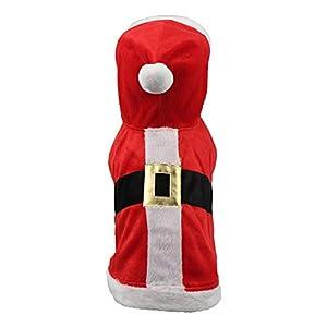 ZZEWINTRAVELER Vêtement de Noël pour Chien Décoration de Noël Chihuahua Yorkshire Caniche