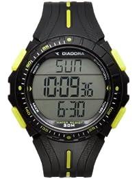 Diadora  DI-004-01 - Reloj de cuarzo para hombre, con correa de silicona, color negro