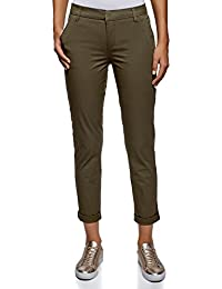 Cotone it Pantaloni Donna Amazon 40 Abbigliamento Opqxg
