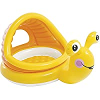 Baiyouli Inflatable Happy Snail Baby Shade Pool Baby Children Inflatable Swimming Float Ring 145cm*102cm*74cm