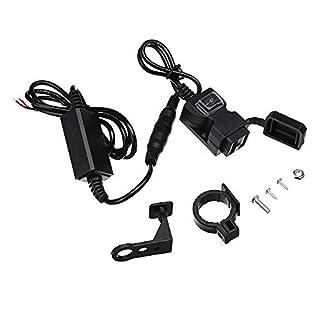 YONGYAO Universal 9-90V Dual USB Motorcycle Waterproof Charger Handlebar Socket Adapter