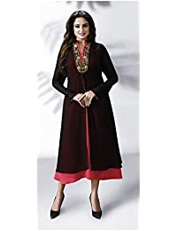 Rosaniya Georget Stitched Embroided Jacket Style Dress with shantoon Inner (NIT0508), Holi Special, sale on amazon today