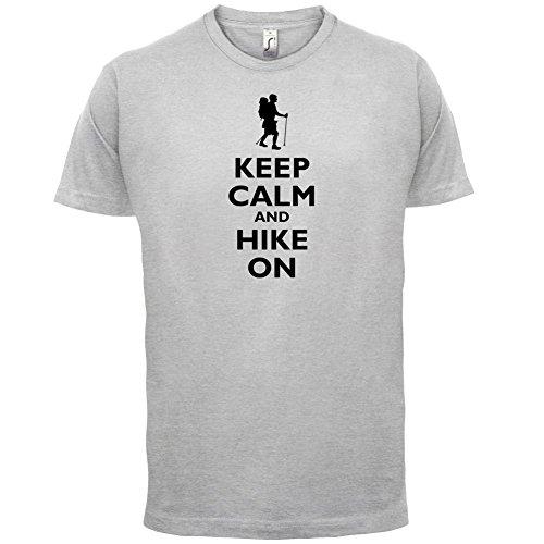Keep Calm and Hike On - Herren T-Shirt - 13 Farben Hellgrau