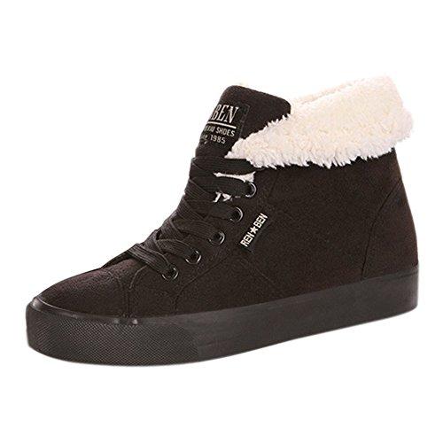 Minetom Femme Hiver Automne Chaudes Bottines Chaussures Flats Snow Boots Footwear Bottes De Chevalier