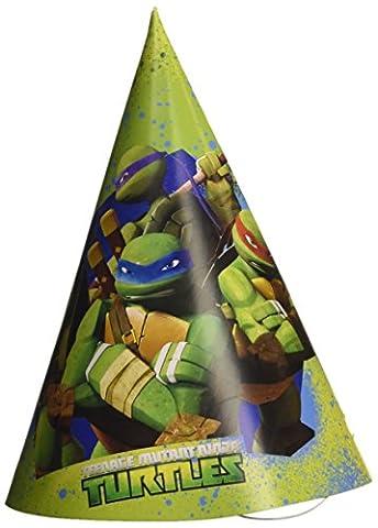 NEU Party Hütchen Ninja Turtles, 6 Stk. 16,5 cm (Shredder Schildkröten Kostüm)