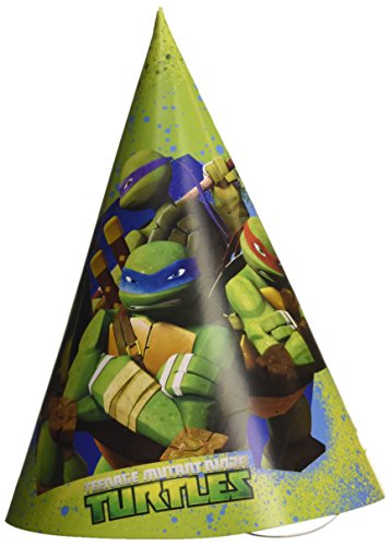 Amscan Teenage Mutant Ninja Turtles 6-paper Party Hüte (Leonardo Mutant Ninja Turtle Kostüm)